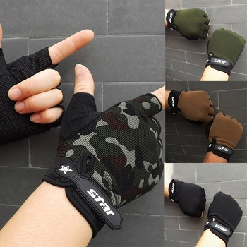 цена на Tactical Hard Knuckle Fingerless Gloves Anti-Skid Bicycle Military Airsoft Paintball Combat Shooting Half Finger Gloves Men