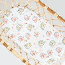 Kangobaby #Bamboo Cotton# Warm And Sweet Hot Sale Rainbow Baby Swaddle Blanket