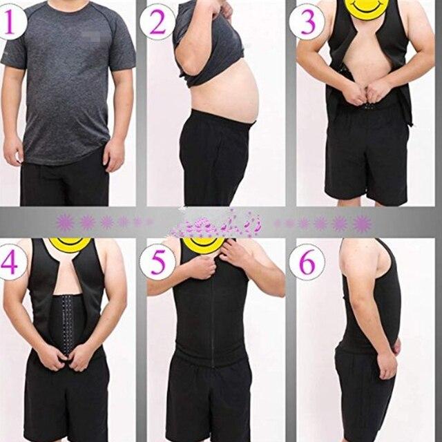 FDBRO Man Shaper Male Body Modeling Belt Tummy Slimming Strap Fitness Sweat Shapewear Waist Trainer Cincher Corset 3