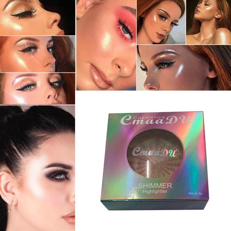 Highlighter Facial Palette Makeup Glow Kit Face Contour Shimmer Powder Base Illuminator Highlight Cosmetics Long Lasting TSLM1 1