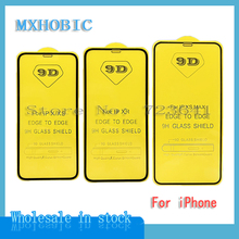 10pcs 9D Full Cover Tempered Glass For iPhone 12 11 Pro Max X XS XR 6 6S 7 8 Plus Screen Protector Protection Protective Film