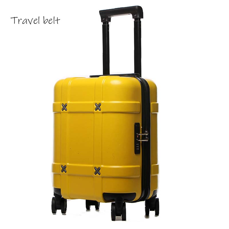 18 inch high quality Rolling Luggage Spinner Carry Ons Children Suitcase Wheels Women men trolley