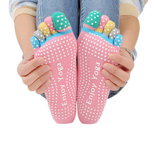 Цветные женские носки для йоги быстросохнущие Нескользящие силиконовые