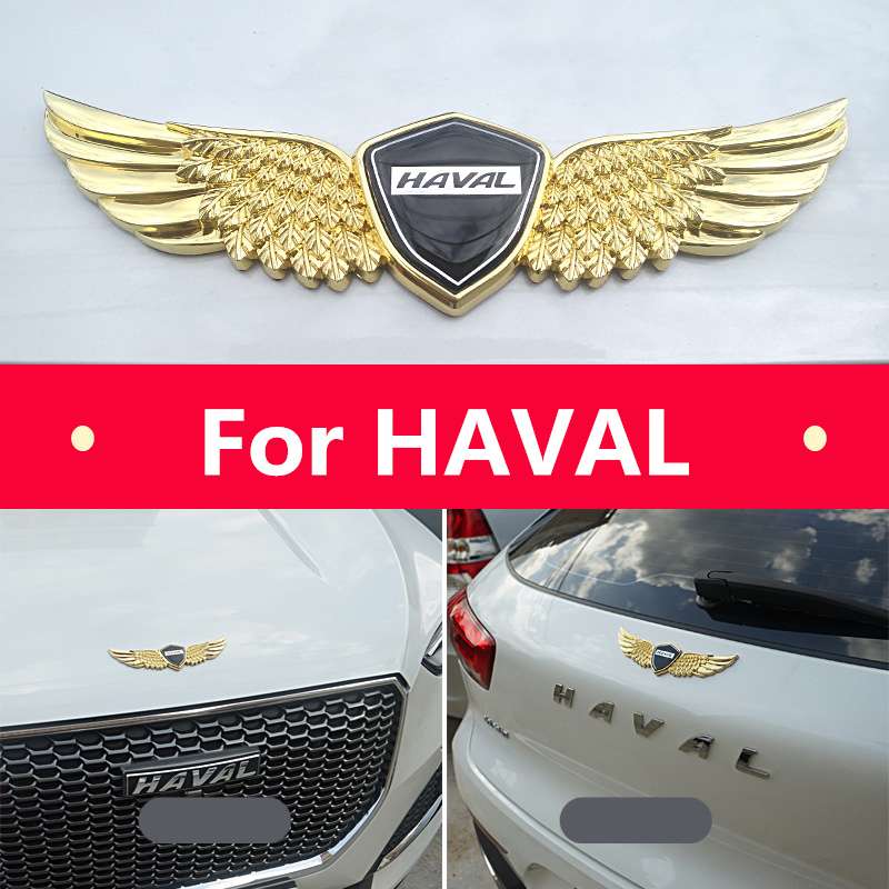 3D metal sign car hood angel emblem sticker For HAVAL H1 H2 H6 H7 H9 F7for HAVAL Car hood angel emblem sticker
