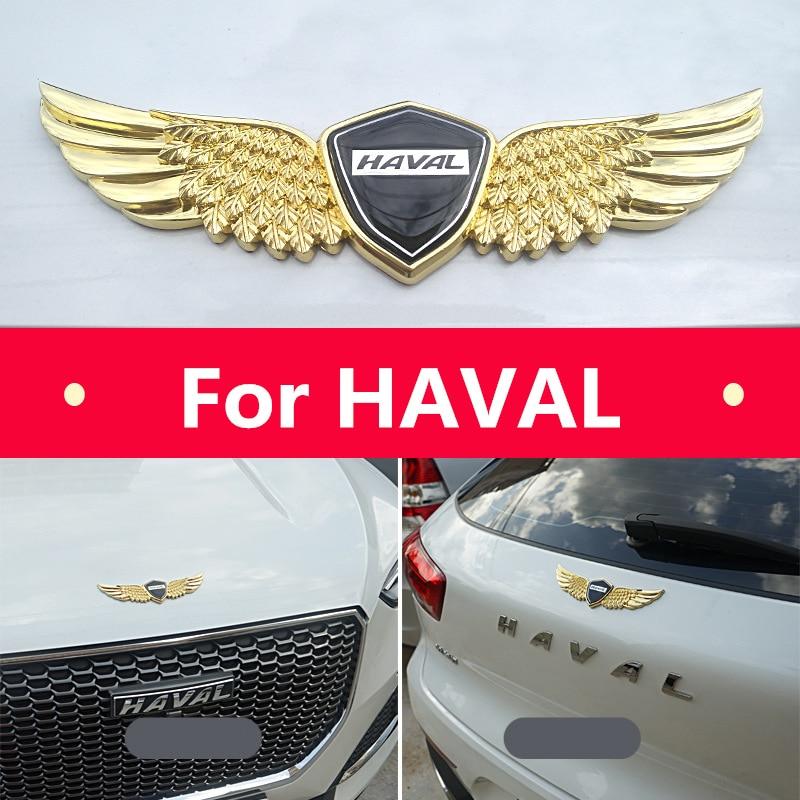 3D Metal Sign Car Hood Angel Emblem Sticker For HAVAL H1 H2 H6 H7 H9 F7,for HAVAL Car Hood Angel Emblem Sticker