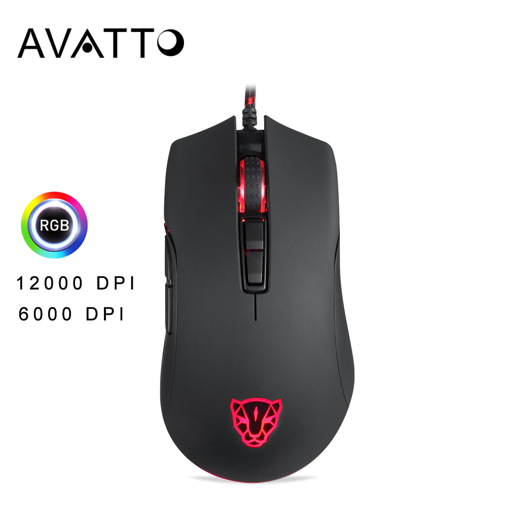 Motospeed V70 USB Wired Mice PMW 3360 12000DPI 500Ghz 7 Button PUBG FPS Computer Gaming Mouse With RGB Backlit For Game Player