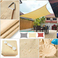 300D Waterproof Large Shade Sail Square Rectangle Garden Terrace Canopy Swimming Sun Shade Outdoor Camping Yard Sail Awnings