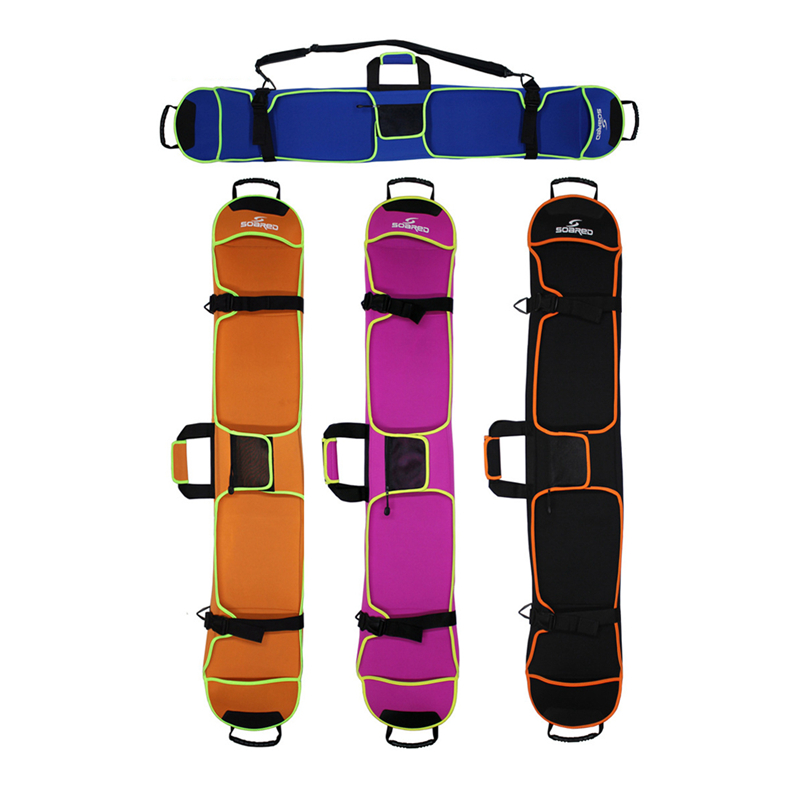 150cm Ski Bag Snowboard Bag Neoprene Material Skiing Board Cover Snowboard Scratch-Resistant Monoboard Plate Protective Case