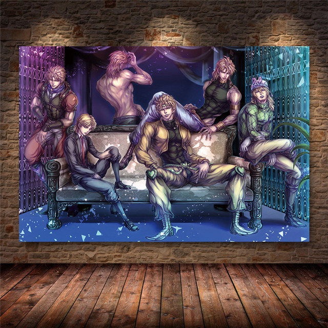 Unframed JoJo s Bizarre Adventure Japan Anime Cartoon Poster and Prints Canvas Painting Art Wall Pictures Living Room Home Decor 3