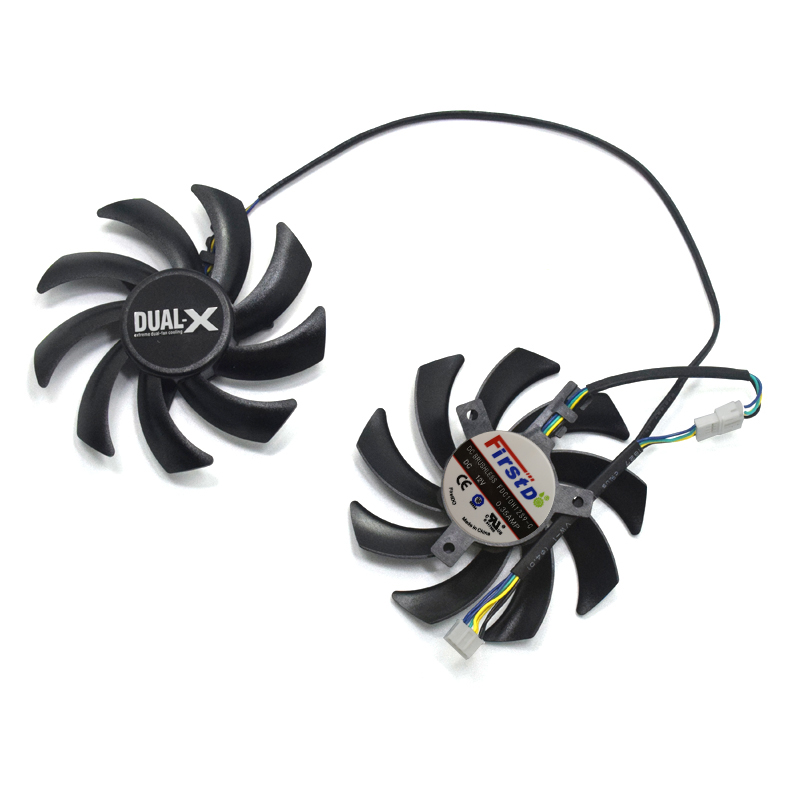 Cooler Fan for Sapphire HD7950 HD7870 2G Palit GTX 1070 1060 Dual R9 270x radeon