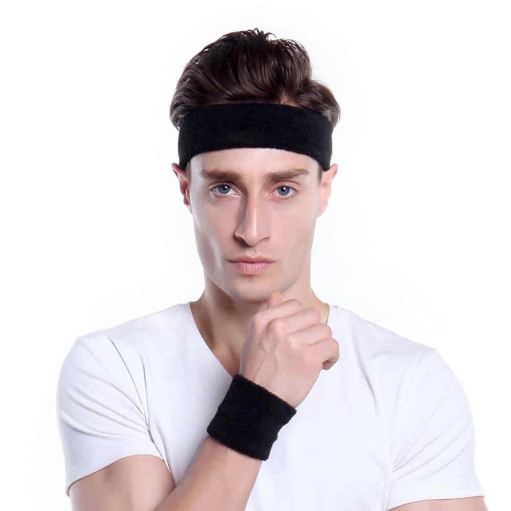 Vale la pena de algodón elástico cinta deportes de baloncesto diadema de los hombres y las mujeres gimnasio sudor banda de pelo tenis, balonvolea corriendo