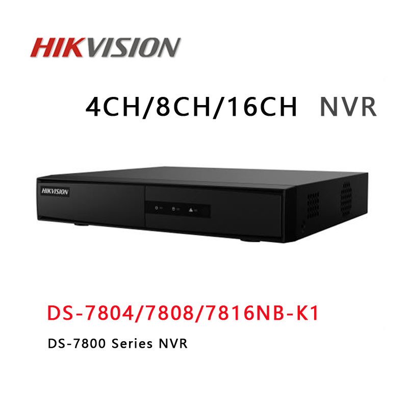 HIKVISION 4CH 8CH 16CH IP NVR Hard Drive VCR CCTV NVR DS-7800NB-K1/C