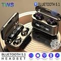 Наушники-вкладыши TWS Bluetooth 5,1 наушники светодиодный Дисплей Беспроводной наушники 9D HiFi Басс стерео спортивные Водонепроницаемый гарнитуры ...