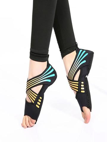 Meias de Yoga sem Costas Sapatos de Dança Meias de Yoga Meias de Ballet Profissional Pilates Feminino Meias Esportivas