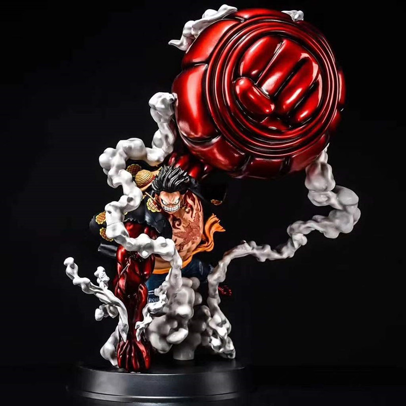 NEW High Quality Large Size Anime Figure One-piece GK Monkey D Luffy Gear 4 Oversize 50cm PVC Anime Figure Model Collection Toys