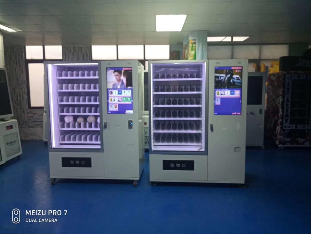 Cold Beverage Mechandiser Combo Vending Machine Drinks And Snacks Vending Machine Cabinet With Lift System