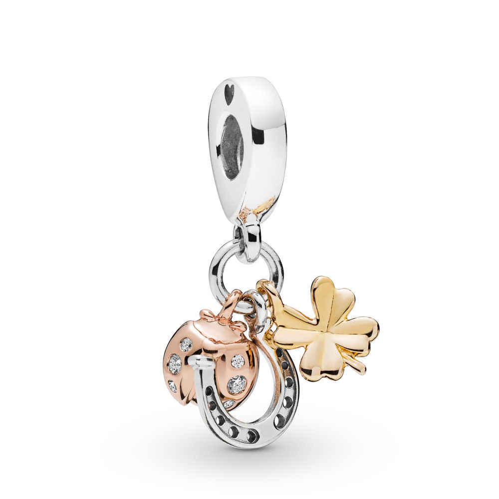 2PCS Nettes schwein baby elefanten anhänger zubehör Fit original Marke armband schmuck geschenk kreative produktion