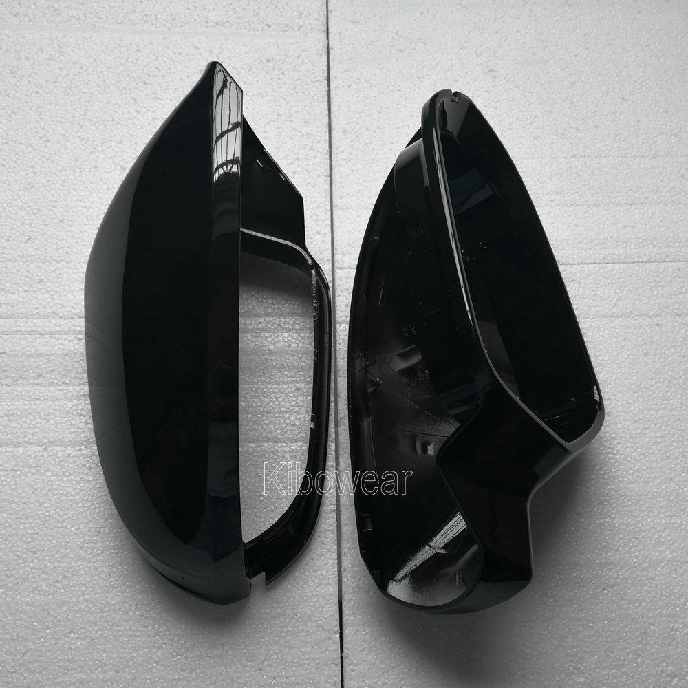 Image 2 - צד מראה כובע מכסה לאאודי A6 C7 C7.5 S6 4G 2012 2013 2014 2015 2016 2017 2018 אחורי צפו באגף מקרה שחורמראות וכיסוייםרכבים ואופנועים -