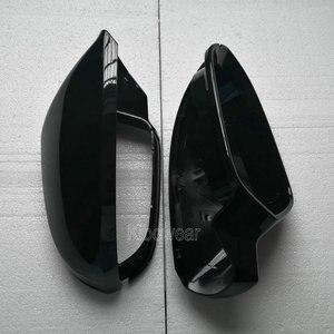 Image 2 - Zijspiegel Cap Covers Voor Audi A6 C7 C7.5 S6 4G 2012 2013 2014 2015 2016 2017 2018 Achter view Wing Case Black