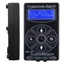 Tatuagem preta quente fonte de alimentação furacão hp-2 fonte de alimentação profissional digital dupla display lcd tatuagem unidade de energia frete grátis