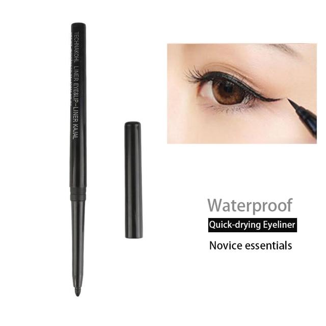 Black Long Lasting Eye Liner Pencil Automatic Rotating Waterproof Pen Precision Long-lasting  Crayon Eyes Marker Pen TSLM1