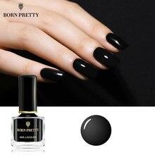 Natural bonito brilho preto esmalte 7ml básico preto base verniz verniz diy unha arte polonês