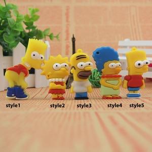 Image 5 - De silicona modelo Bart Simpson familia 128MB GB 32GB 64GB de memoria PenDrive USB U disco Pen Drive con dibujo animado USB Flash Drive lindo regalo