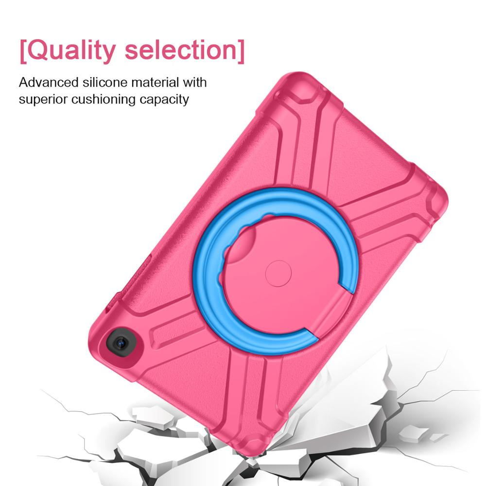 360 Full Body Hybrid Armor Case For Samsung Galaxy Tab A 10 1 2019 T510 T515 Shockproof Handle Stand Cover SM T510 T515 Case in Tablets e Books Case from Computer Office
