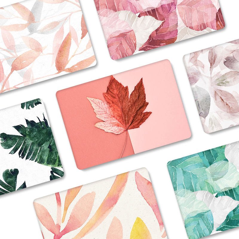 Laptop Case For Huawei Matebook 13 Hard Crystal Transparent Leaf Flower Protective Cover For Matebook X Pro 13.9 Inch 2019 Cases