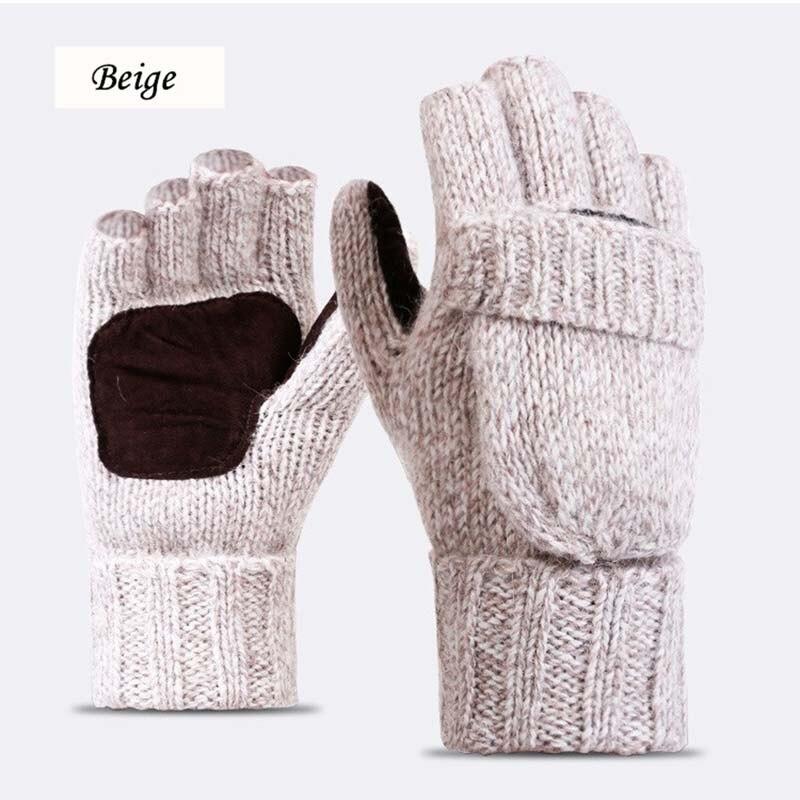 Унисекс плюс толстые мужские перчатки без пальцев мужские шерстяные зимние теплые варежки с открытыми пальцами вязаные теплые перчатки с полупальцами|Мужские перчатки| | АлиЭкспресс