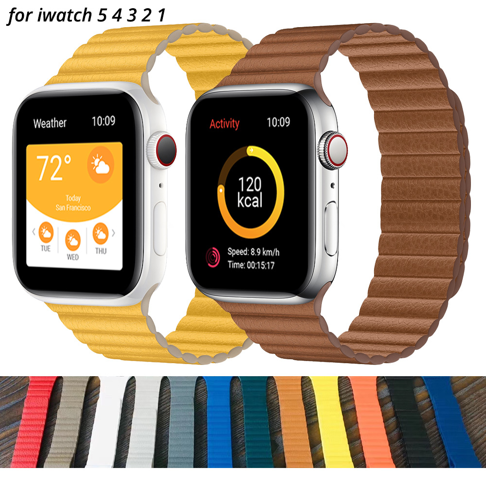 Leather Loop Strap For Apple Watch Band 42mm Replacement Wristbands IWatch Series 5 4 3 2 1 Watchbands Bracelet 44mm 40mm 38mm