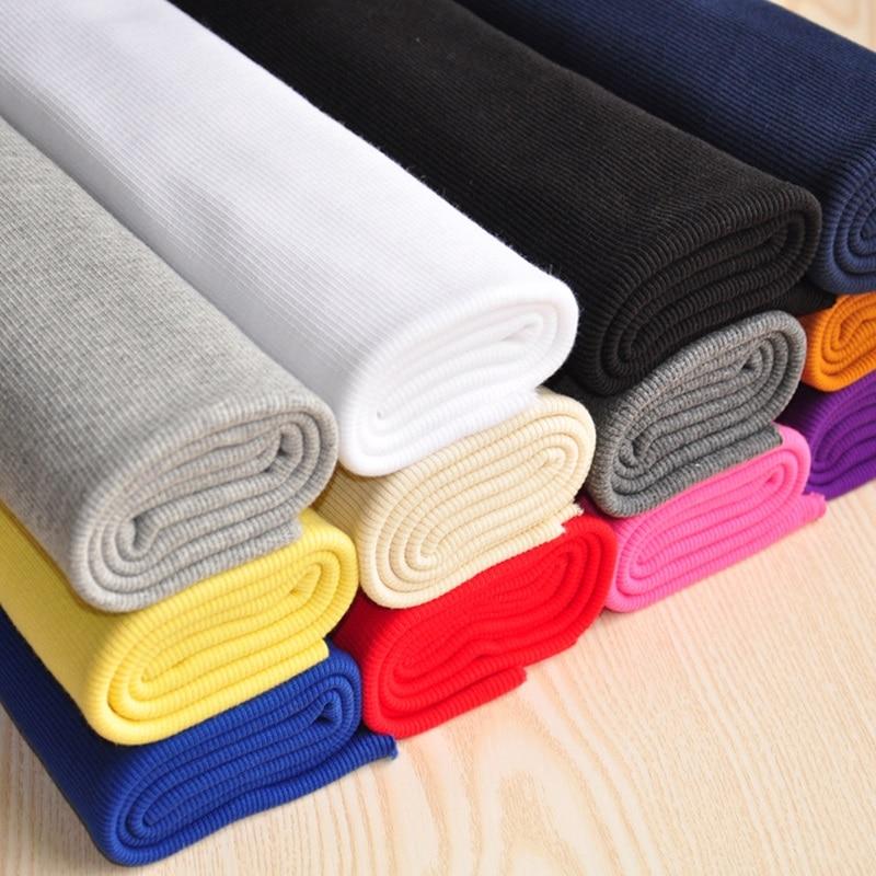 2x2 rib knit pano estiramento tubular com nervuras elastano para punhos e coleiras tecido algodão com nervuras calças para grávidas material|Tecido|   - AliExpress