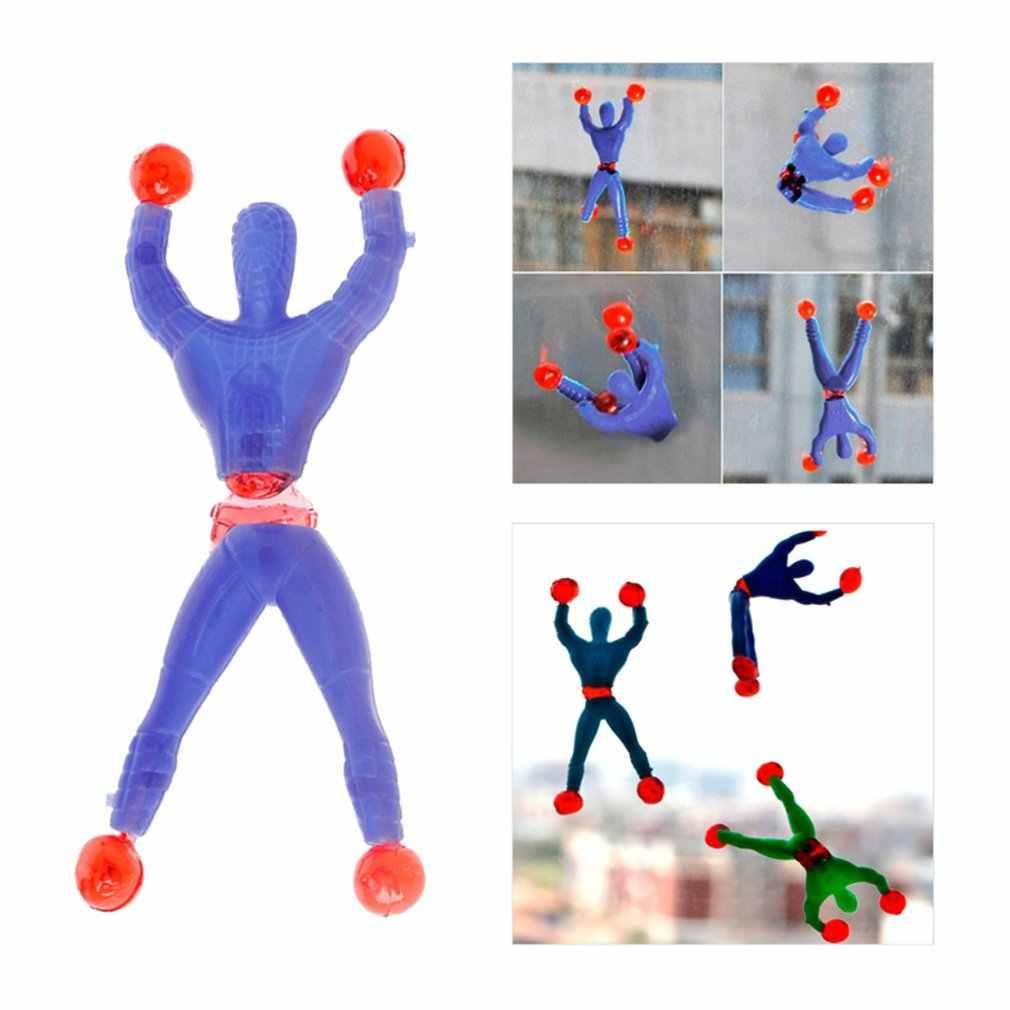 1 Pcs Prodotti Novità Giocattolo Melma Viscosa Arrampicata Spider-Man di Un Pezzo Figura di Azione Divertente Gadget Pvc Spiderman per giocattoli per Bambini