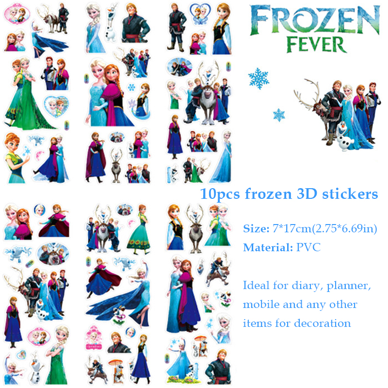 Image 4 - 60pcs Frozen Party Favors For Kids Birthday With Frozen Love Bracelet/Rings 3D Disney Bubble Stickers Baby Shower Gifts Bags Christmas-in Party Favors from Home & Garden