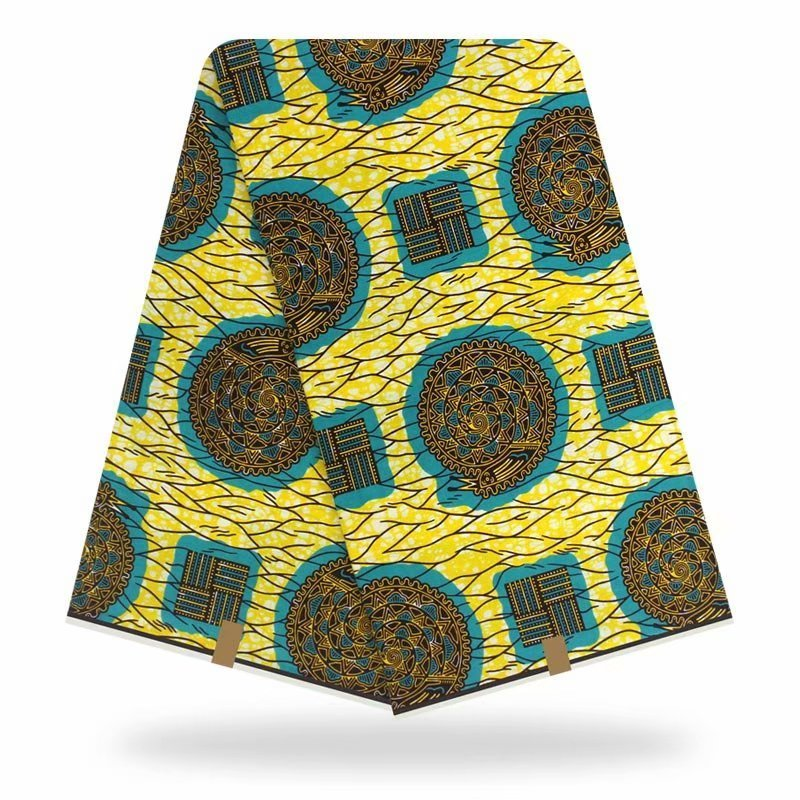 Hot Sale 100% Cotton Wax African Real Dutch Wax Veritable African Print Fabric For Party Dress