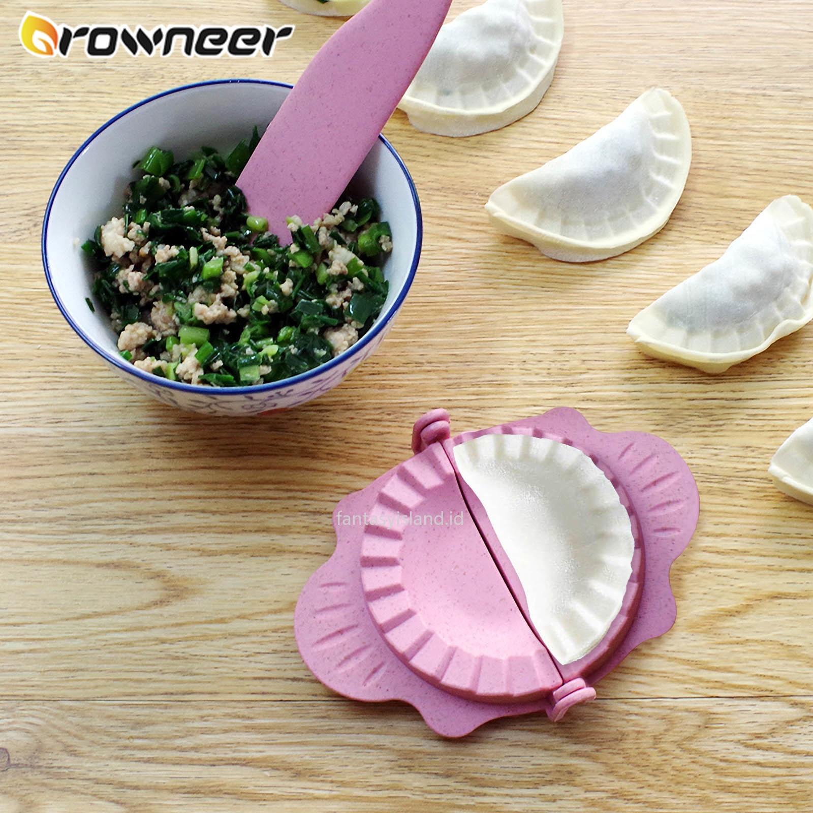 DIY Dumplings Mold Non-toxic Wheat Straw Jiaozi Molds Convenient Dumpling Maker Kitchen Round Face Peel Automatic Pastry Gadgets