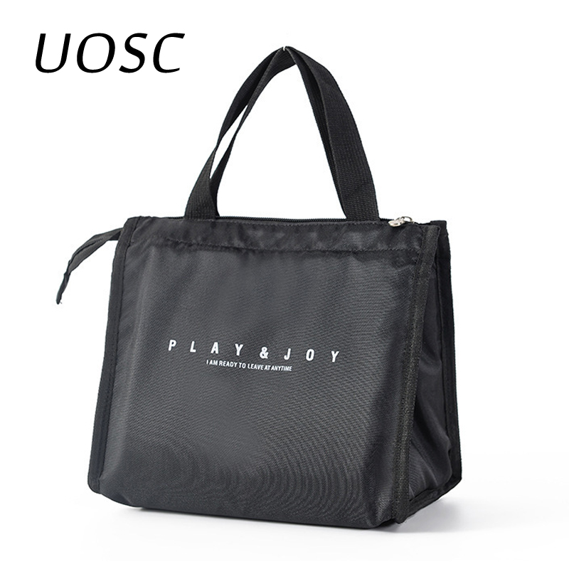UOSC Thermal Family Lunch Bag Picnic School Cold Insulation Bento Pouch Travel Food Fruit Organizer Tote Accessories Supplies