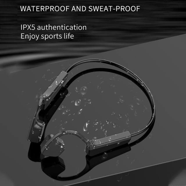 Bone Conduction Headphones Bluetooth Wireless Sports Earphone IPX6 Waterproof Headset Outdoor Stereo With Microphone 4