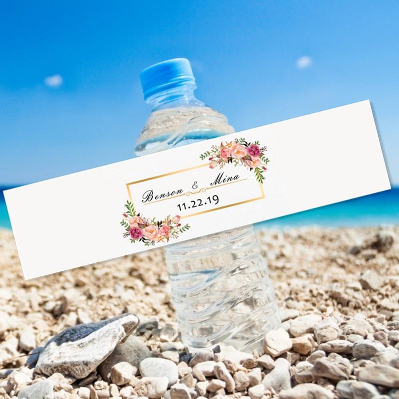 Vela de festa de casamento, 24 peças, moldura de oração sagrada, festa, aniversário, viagem, garrafa de água adulto, presente personalizado, etiqueta