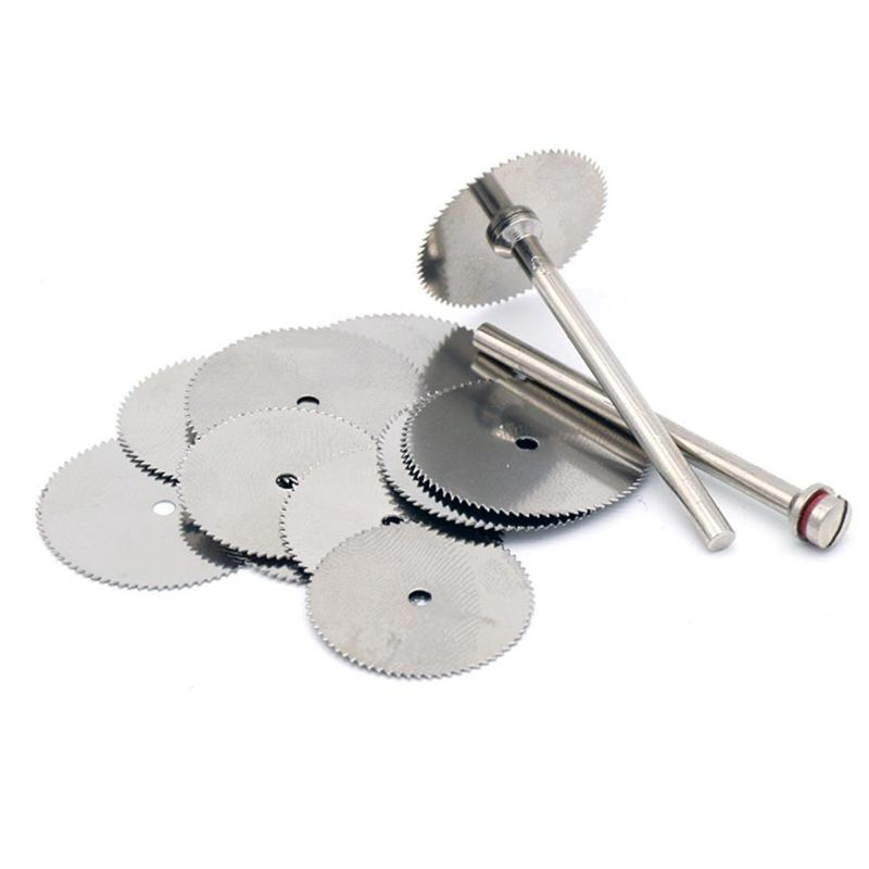 10pcs/set Woodworking Saw Blades Circular Wood Carving Disc Rotary Thin Acrylic Plastic Cutting Power Tool Accessories