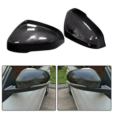 Carbon-Fiber Side-Mirror-Covers Volvo S60 Housing-Replacement V60 V40 Caps 1pair Fit-For