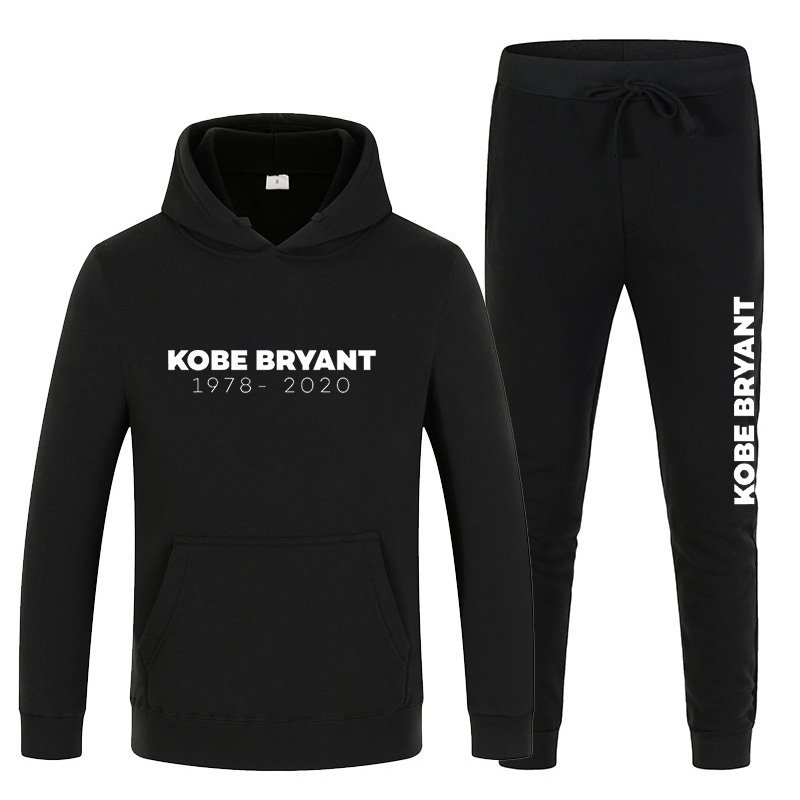 2020 Tracksuit Men Kobe Bryant Memorial Sweatshirt Sets Autumn Winter Street Sportswear Training Student Long Sleeve Hoodie Men