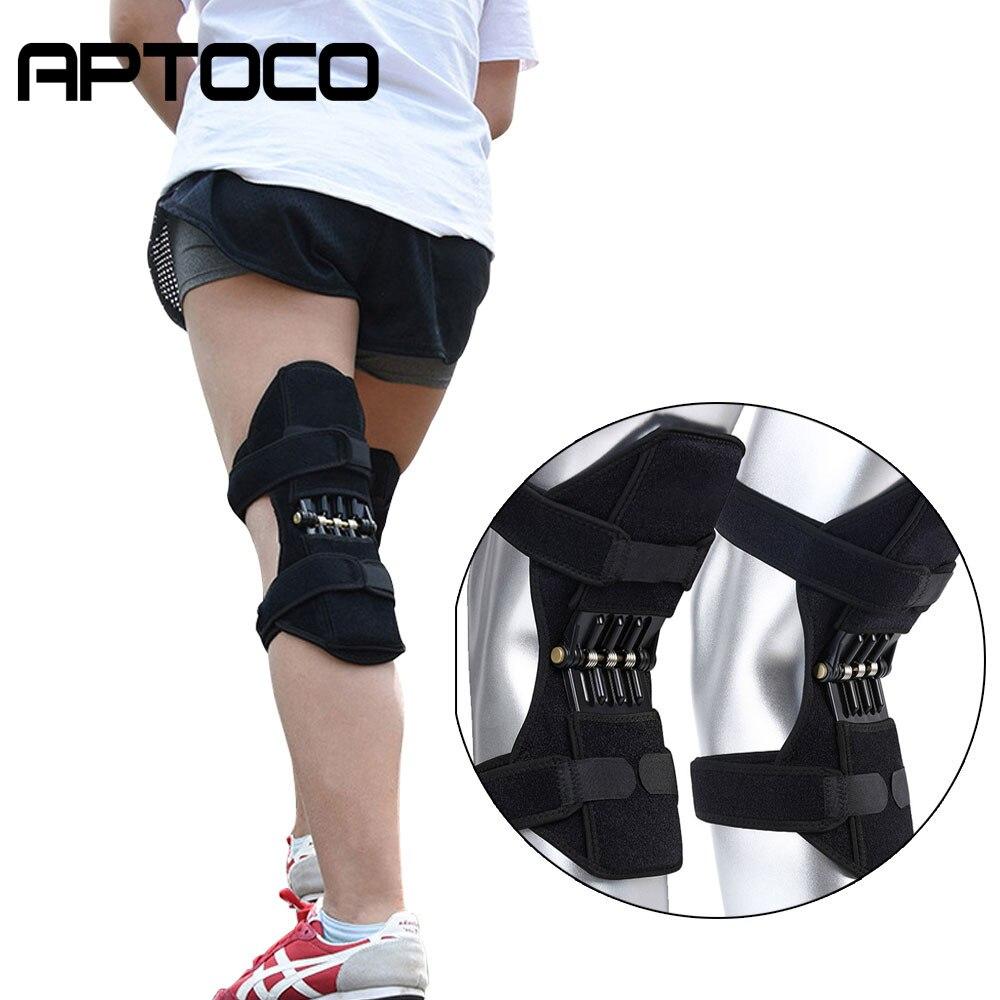 1pc e 1 par power joint apoio joelheiras poderoso rebote primavera força joelho suporte profissional esportes de proteção joelheira