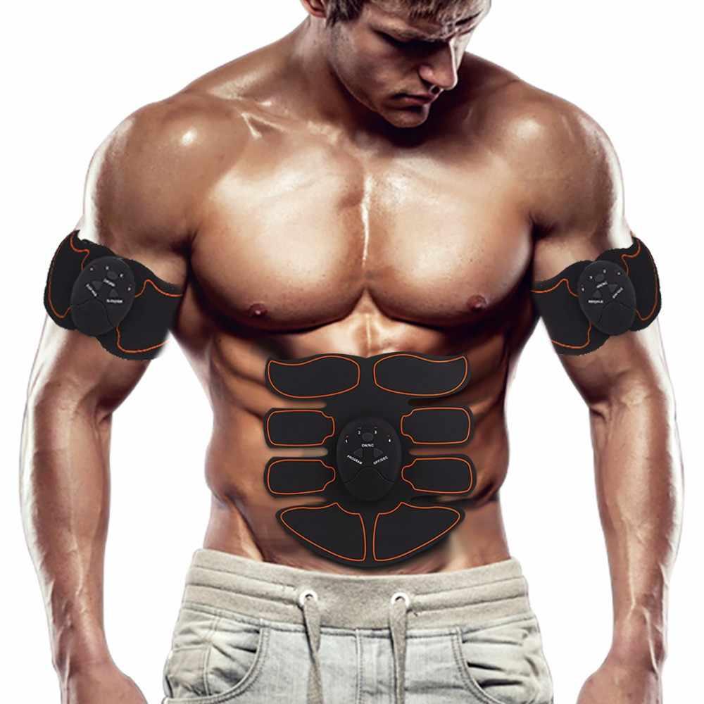 Listrik Stimulator Pijat Tekan Pelatih Otot Perut Berolahraga Perut Kaki Lengan Latihan Latihan Alat Fitness Rumah Alat