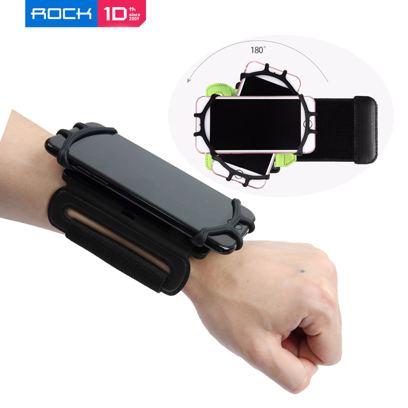 Rock Universal Wrist Band Case για iPhone XS 8 7 6s Plus Running Sport Cover Holder for Samsung s8 S9 s8 plus Cycling bumper