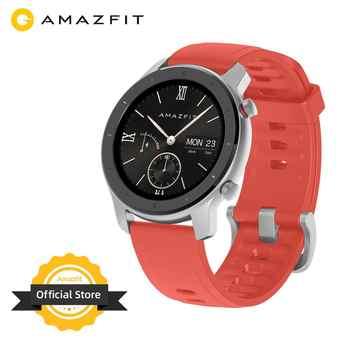 Version mondiale en Stock Amazfit GTR 42mm montres pour femmes 5ATM Smartwatch 12 jours batterie GPS contrôle de la musique pour téléphone Android IOS