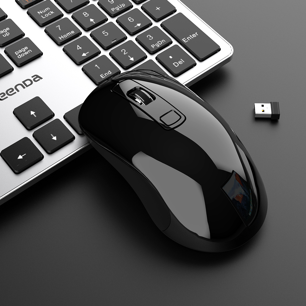SeenDa Mouse Wireless 2.4GHz USB Nano Receiver Ergonomic Mouse Adjustable DPI Mice For Computer Laptop Optical Wireless Mouse PC