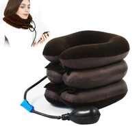 Opblaasbare Nek Halswervel Tractie Soft Brace Ondersteuning Apparaat voor Hoofdpijn Head Terug Schouder Nekpijn Gezondheid
