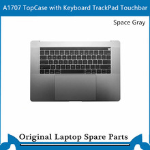 Original Top case for Macbook Pro Retina 15' A1707  Palmrest with keyboard backlit trackpad touchbar US Gray Sliver 2016-2017