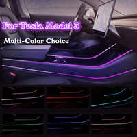 NEW Modification Car Interior Atmosphere Multi Color LED Light Modification Control Accessories for Tesla model 3 Light Strip